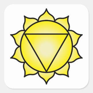 The Solar Plexus Chakra Square Sticker