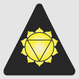 The Solar Plexus Chakra Triangle Sticker