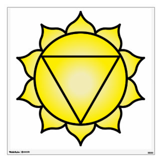The Solar Plexus Chakra Wall Decal