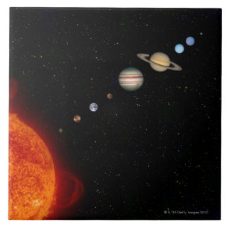 The Solar System 2 Ceramic Tile
