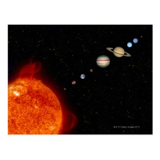 The Solar System 2 Post Cards
