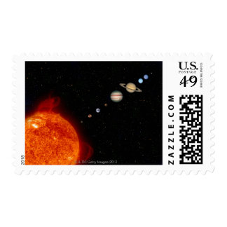 The Solar System 2 Postage Stamp