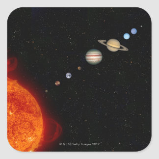 The Solar System 2 Square Sticker