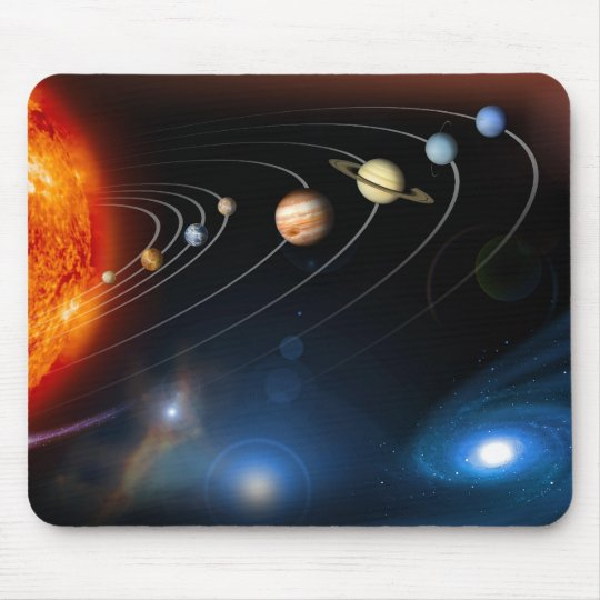 The solar system and beyond mousepad for Solar system fleece
