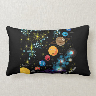 The Solar System Lumbar Pillow