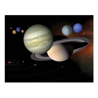 """The Solar System"" postcard"