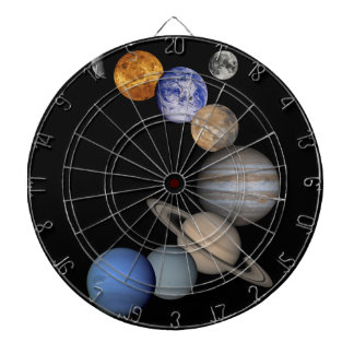 The solar system range our planets dartboard with darts