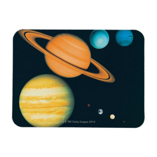 The Solar System Rectangular Photo Magnet