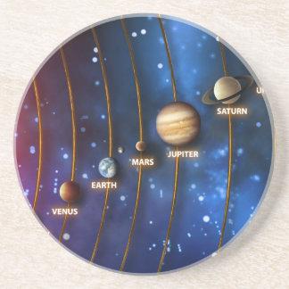 The Solar System Sandstone Coaster