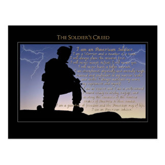 The Soldier s Creed Postcards