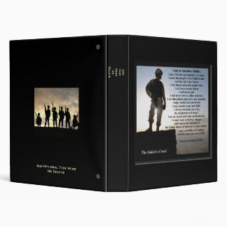 """""""The Soldier's Creed"""" 3 Ring Binder"""