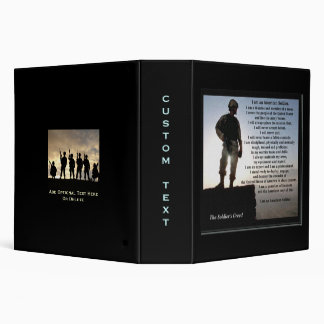 The Soldiers Creed Military Binder