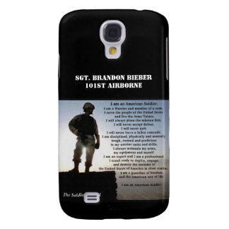 The Soldier's Creed Military Warrior Ethos Galaxy S4 Cover