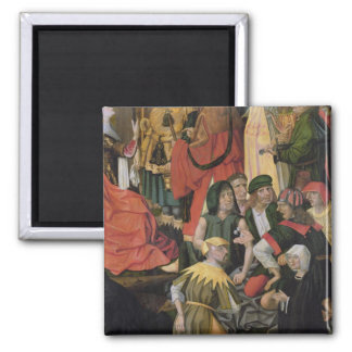 The Soldiers Drawing Lots for Christ's Clothes 2 Inch Square Magnet