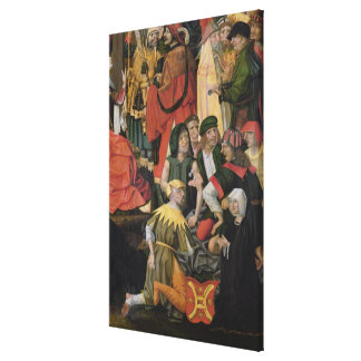 The Soldiers Drawing Lots for Christ's Clothes Canvas Print