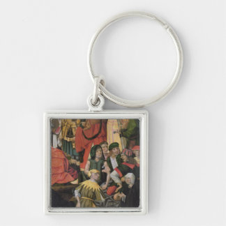 The Soldiers Drawing Lots for Christ's Clothes Silver-Colored Square Keychain