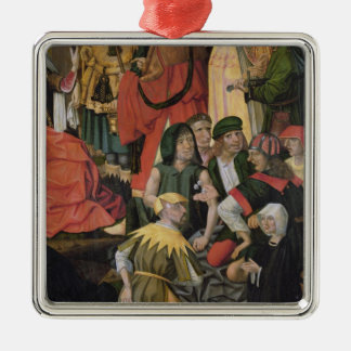 The Soldiers Drawing Lots for Christ's Clothes Square Metal Christmas Ornament