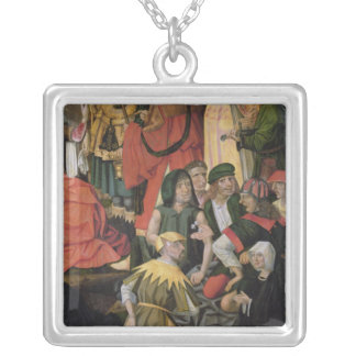 The Soldiers Drawing Lots for Christ's Clothes Square Pendant Necklace