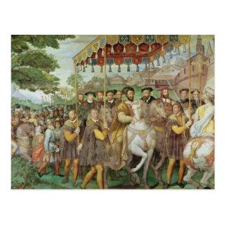 The Solemn Entrance of Emperor Charles V Postcard
