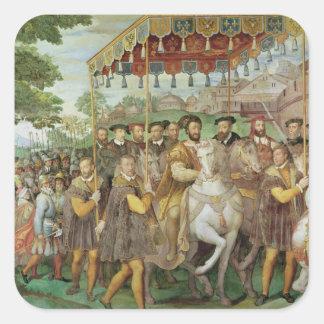 The Solemn Entrance of Emperor Charles V Square Sticker