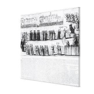 The Solemn Mock Procession Canvas Print