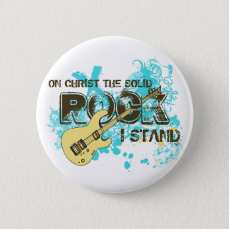 The Solid Rock Pinback Button