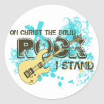 The Solid Rock Round Stickers