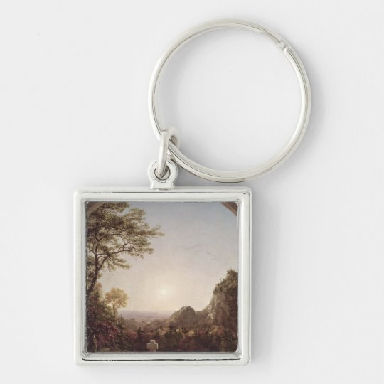 The Solitary Cross, 1845 Keychain