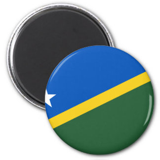 The Solomon Islands Flag 2 Inch Round Magnet