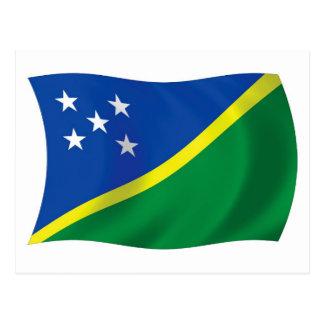 The Solomon Islands Flag Postcard