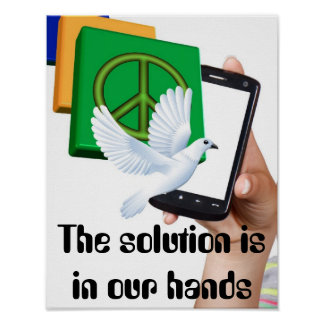 The solution is in our hands poster