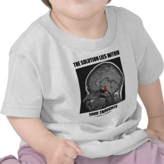 The Solution Lies Within Your Thoughts (Psyche) T Shirts