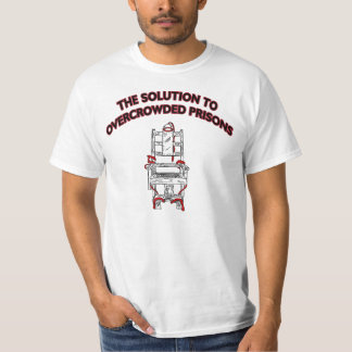 the Solution to Overcrowded Prisons Plain white T T-Shirt