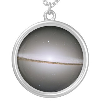 The Sombrero Galaxy M104 NGC 4594 Silver Plated Necklace