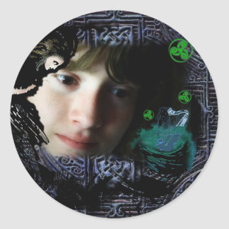 The Song of Taliesin Classic Round Sticker