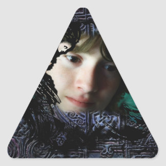 The Song of Taliesin Triangle Sticker