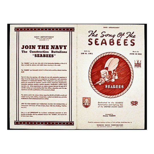 The Song Of The Seabees Postcard
