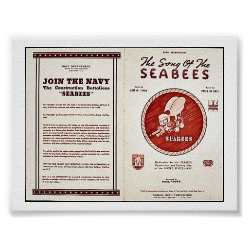 The Song Of The Seabees Print