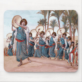 """The Songs of Joy"", Jewish Art Gift Mousepads"