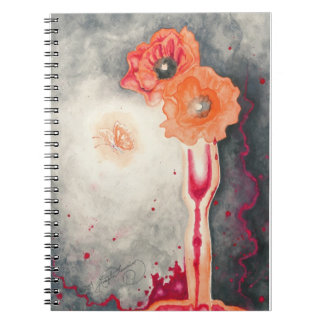 The Sorcerer's Poppies Spiral Notebook