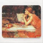 """The Sorceress"" by John Waterhouse Mouse Pad"