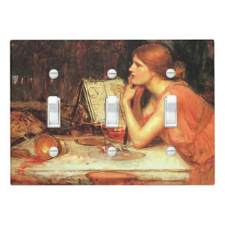 """""""The Sorceress"""" by Waterhouse Light Switch Cover 2"""