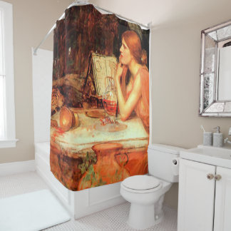 """""""The Sorceress"""" by Waterhouse Shower Curtain"""