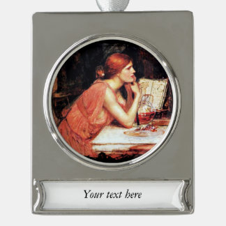 The Sorceress Circe with Potion Book Silver Plated Banner Ornament