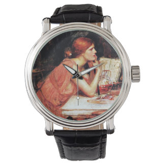The Sorceress Circe with Potion Book Wrist Watches