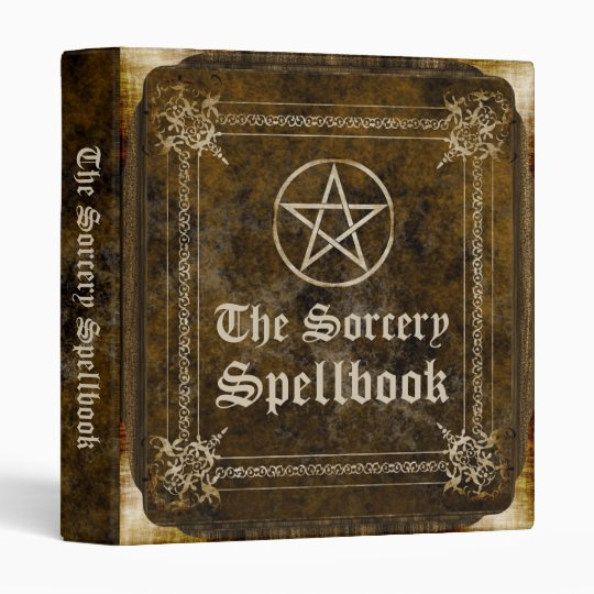 the sorcery spellbook 3 ring binder