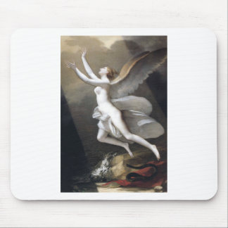 The soul breaking the bonds by Pierre-Paul Prud'ho Mouse Pad