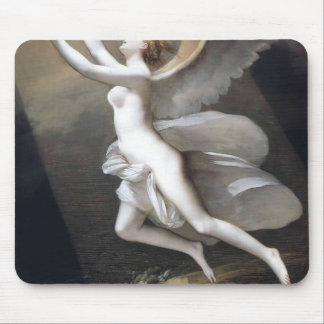 The soul breaking the bonds by Pierre Prud'hon Mouse Pad