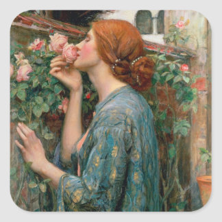 The Soul of the Rose, 1908 Square Sticker