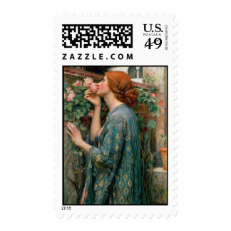 The Soul of the Rose - John William Waterhouse Stamp